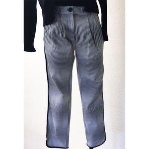 Asos Ombré Striped Slacks w/Black Piping Size 2